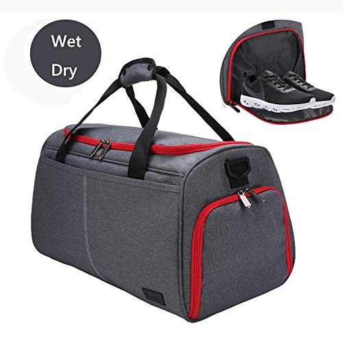 MarsBro Gym Bag Shoe Compartment Workout Sports Duffel Bag Dry and Wet Separation