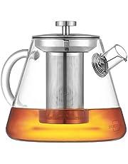 SILBERTHAL Dzbanek do herbaty z sitkiem – szkło – 1,5 litra – pełny zaparzacz herbaty dzięki długiemu wkładowi sitowemu