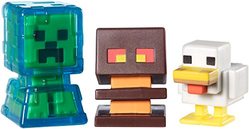 Minecraft Collectible Figures Chicken, Electrified Creeper and Magma Cube 3-Pack, Series -