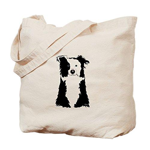 CafePress White Border Collie Natural Canvas Tote Bag, Cloth Shopping Bag