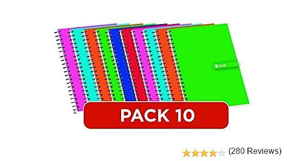 Cuadernos 12º Enri. Pack de 10 unidades. Tapa blanda. Cuadrícula ...