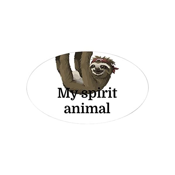 Cafepress My Spirit Animal Sticker Oval Bumper Sticker, Euro Oval Car Decal -