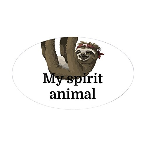 Cafepress my spirit animal sticker oval bumper sticker euro oval car decal