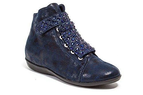 Hoge Sneakers Met Stenen Damesschoenen Van Lady Couture, Rock Marine