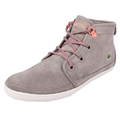 51284ea59 Lacoste Ziane Chukka NSO SPW Grey Light Red 37  Amazon.co.uk  Shoes   Bags
