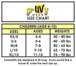 grUVywear girls UV Sun Protective (UPF 50+) Boy Stretch Shorts Swim Bottoms