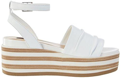 09 Rio Plateforme Sandales Fornarina Femme Blanc White wBPRnqYZ
