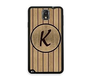 Wood Line K Monogram Samsung Galaxy Note 3 Note III Case - Fits Samsung Galaxy Note 3 Note III