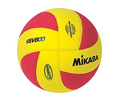 Mikasa Volleyball, Water Proof No Sting Pillow Cover Ball-Yellow-Red (2-Pack) by Mikasa
