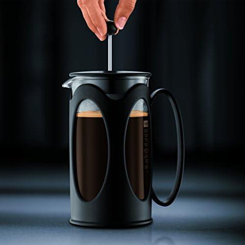 Bodum - 10685-01 - Kenya - Cafetière à Piston 8 Tasses - 1.0 L - Noir