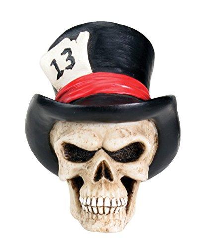 New Top Hat Skull Head Bust Human Figurine - Human Heads