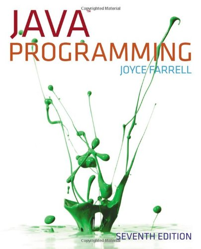 Java Programming, 7th Edition by Cengage Learning