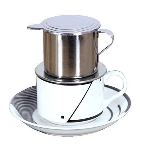 Filtro de café vietnamita cafetera eléctrica prensa vietnamita café infusor - Durable Manual Acero Inoxidable Copa de filtro para el ...