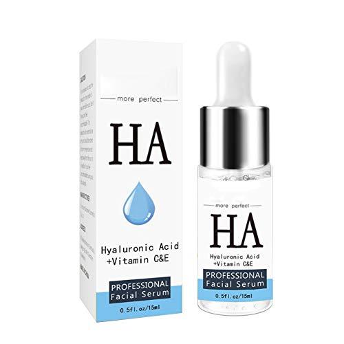 15mL Facial Serum Hyaluronic Acid with Vitamin C & Vitamin E - Hydration Moisturiser Whitening Anti Ageing Anti Wrinkles Smoothes Fine Lines (Best Moisturiser For Fine Lines)