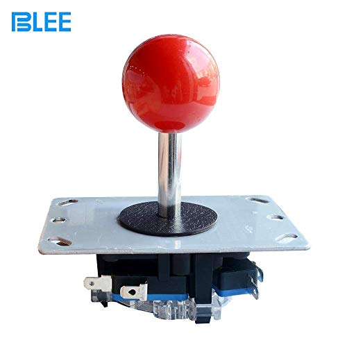 BLEE Red Ball Arcade Joystick Stick DIY Control Joystick with Microswitch 4 Way Fighting Stick Parts for Arcade Video Game. (Renewed)
