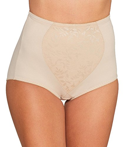 Bali Women's Tummy Panel Brief Firm Control 2-Pack, Nude Jacquard, 3X Large