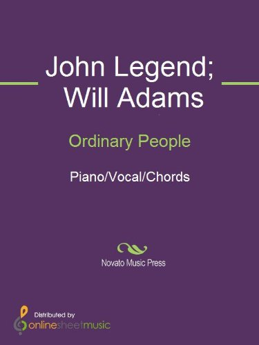 Ordinary People Kindle Edition By John Legend Will Adams Arts