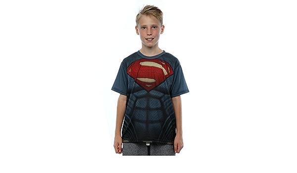 DC Comics niños Batman v Superman Supersuit La sublimación de la camiseta