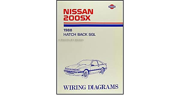 1988 Nissan 200SX Wiring Diagram Manual Original: Nissan ... on