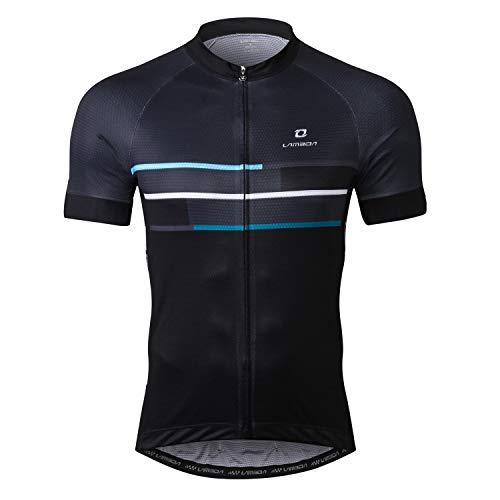 - LAMEDA Cycling Jersey Men Short Sleeve Shirt Bike Accessories Running Tops Bike Biking Shirt Gray XL