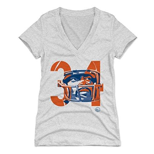 34 Walter Payton Jersey (500 LEVEL's Walter Payton Women's V-Neck Shirt M Tri Ash - Walter Payton Tribute 34 - Vintage Chicago Football Fan Gear)