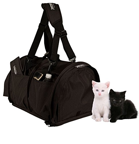 (Sturdi Products SB3D-B SturdiBag Double Sided Divided Pet Carrier, X-Large, Black)