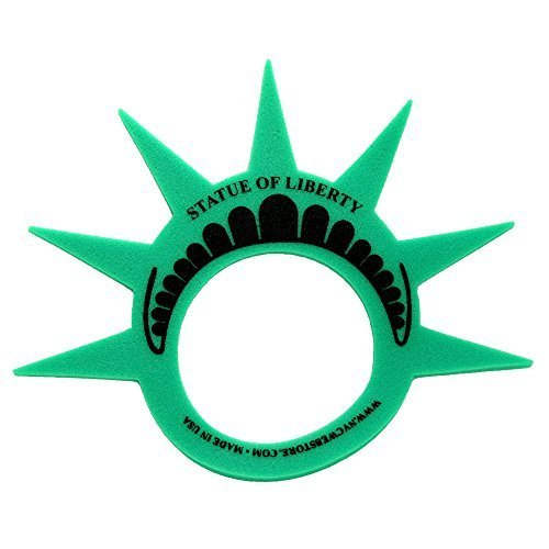 Fun Statue of Liberty Crown Hat Cap and Visor, (MADE in USA), Foam Crown for Costumes and New York City Theme Parties]()