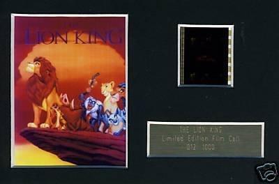 Parte di pellicola del re leone, edizione limitata