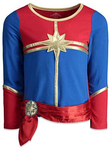 Captain Marvel Toddler Girls Costume Long Sleeve T-Shirt Leggings & Headband Set 3T - http://coolthings.us
