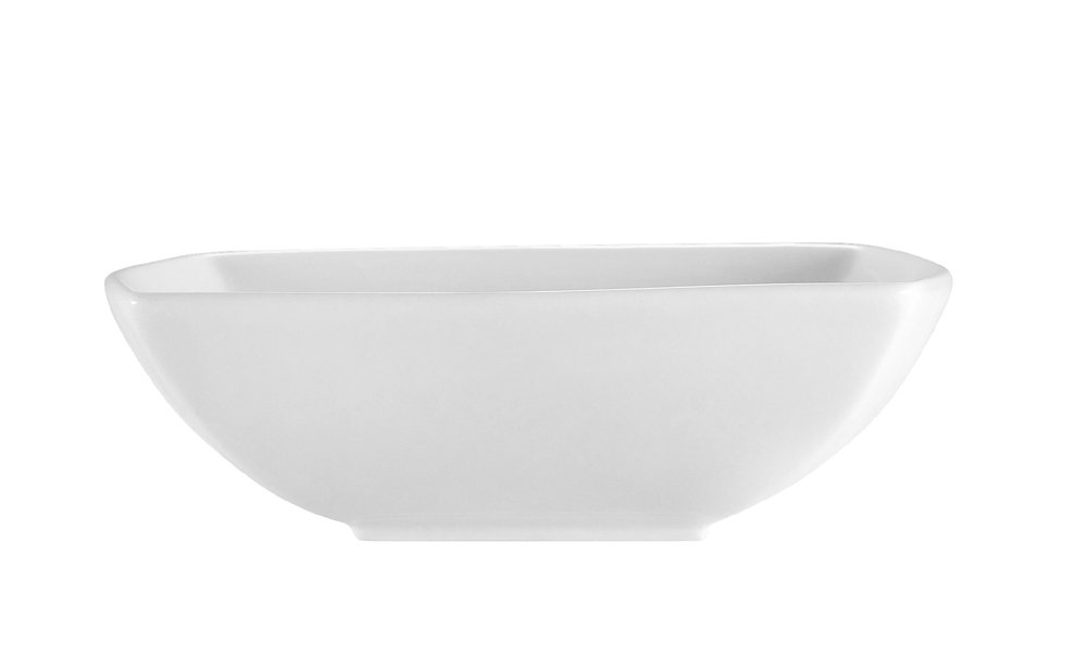 CAC China PNS-B6 Princesquare 6-1/2-Inch 12-Ounce Super White Porcelain Square Bowl, Box of 36