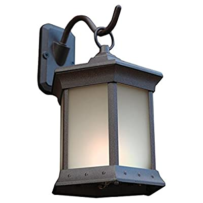 Outdoor Greatroom Company Wall Mounting Solar Light Kit in Espresso (Set of 2)