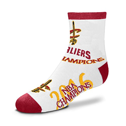 Cleveland Cavaliers 2016 NBA Champions Youth Size Kids Socks (4-8 YRS) by For Bare Feet