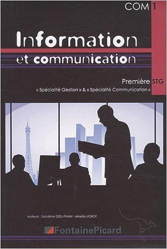 Téléchargement Information et communication 1e STG epub, pdf
