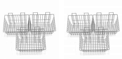 Proslat 13022 15-Inch x 11-Inch Ventilated Wire Basket Designed PVC Slatwall, 3-Pack (2-(Pack))