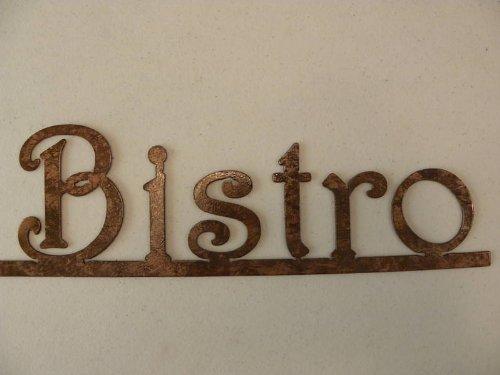 Decorative Metal Wall Art Bistro Word On Bar Kitchen Decor