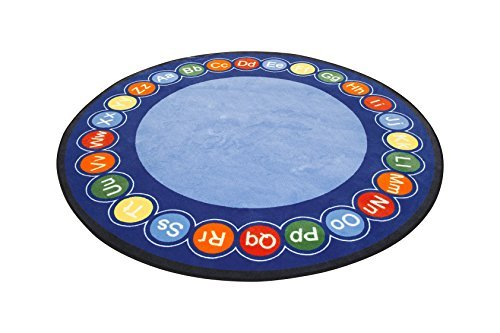 Learning Carpets CPR458 - Abc Rotary Round, Large by Learning Carpets