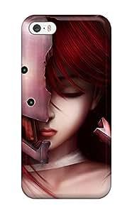 blade anime girl skull Anime Pop Culture Hard Plastic Case For Ipod Touch 5 Cover 4826109K450071591