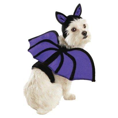 Purple BAT Pet Dog Costume - Size Medium - 15 - 30 lbs