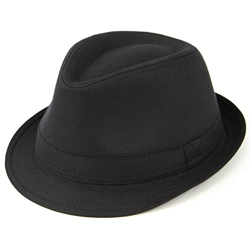 2ab80aa9905 Trendy Mens Womens Unisex Lightweight Cotton Trilby Hat with Black Band