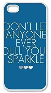 Iphone 6 4.7 6 4.7 PC Hard Shell Case Quotes Blue Background White Skin by Sallylotus Kimberly Kurzendoerfer