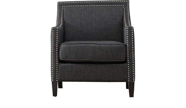 Swell Amazon Com Polyester Accent Chair With Recessed Arms Inzonedesignstudio Interior Chair Design Inzonedesignstudiocom