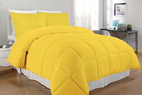 South Bay Alternative Comforter Set, King, Yellow