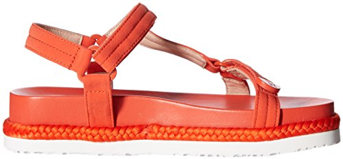 Taryn Rose Womens Lydia Lux Stretch Flat Sandal Poppy