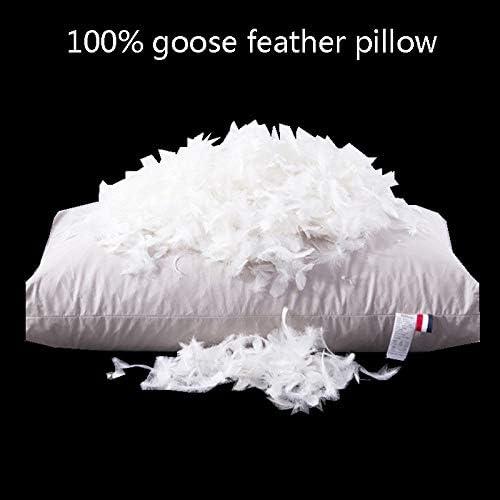 GFGD Oreillers en Plumes d'oie, oreillers en Plumes d'oie Blanc Naturel de qualité hôtel de, Housse 100% Coton, Oreiller Doux hypoallergénique,