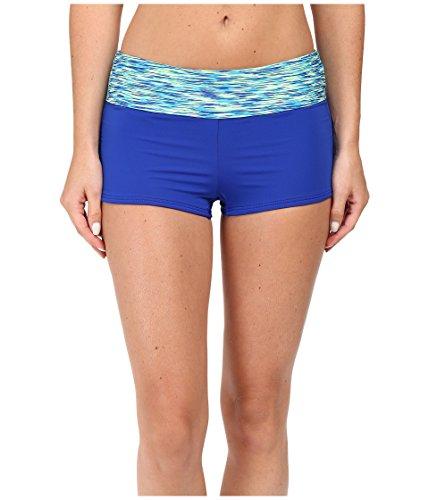 TYR Women's Sonoma Active Mini Swim Boyshort Royal Swimsuit Bottoms - Boyshort Embroidery