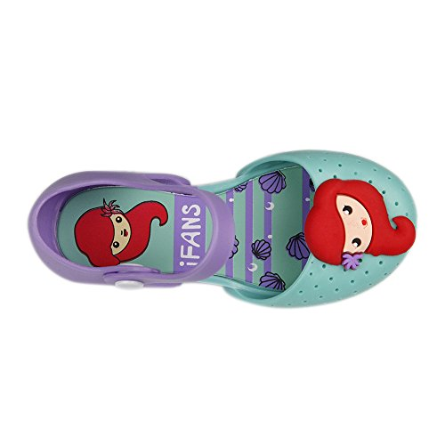 9e20c467b940 iFANS Girls Mermaid Princess Jelly Shoes Mary Jane Flats for Toddler Little  Kids