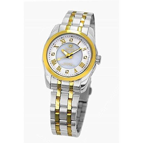 J.HARRISON 4石天然ダイヤモンド付ソーラー電波時計 婦人 B07D1LS2X6