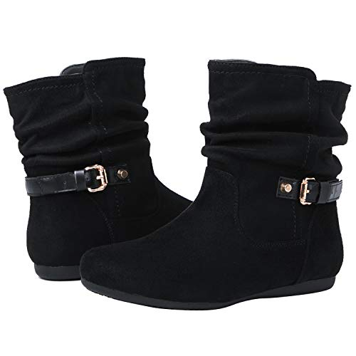 (GLOBALWIN Women's 18YY12 Black Fashion Boots 8.5M)