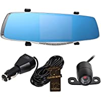 CLEVER BEAR 4.3 inch Full HD 1080P Car Mirror DVR Dual Lens Front And Back Camera For Car Rear View Mirror Car Camera DVR Video Recorder