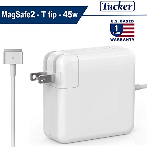 t for MacBook Air Charger, 45W Magsafe 2 Power Adapter, T-Tip Magnetic Connector - Magsafe Charger 45w, Unibody Replacement Charger, 45 Watt for Apple Mac Book Laptop 11/ 13 inch ()